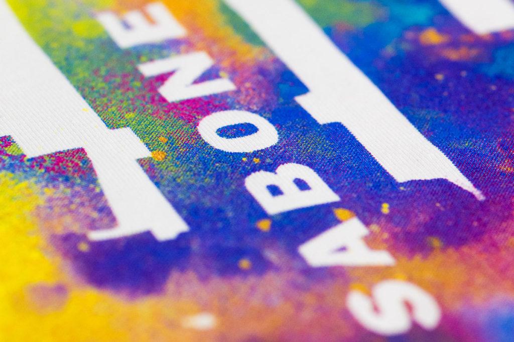 цветная печать на текстиле - шелкография